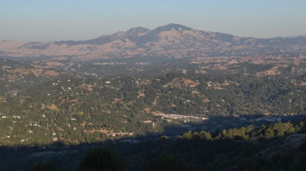 Mt Diablo from Vollmer Peak-2